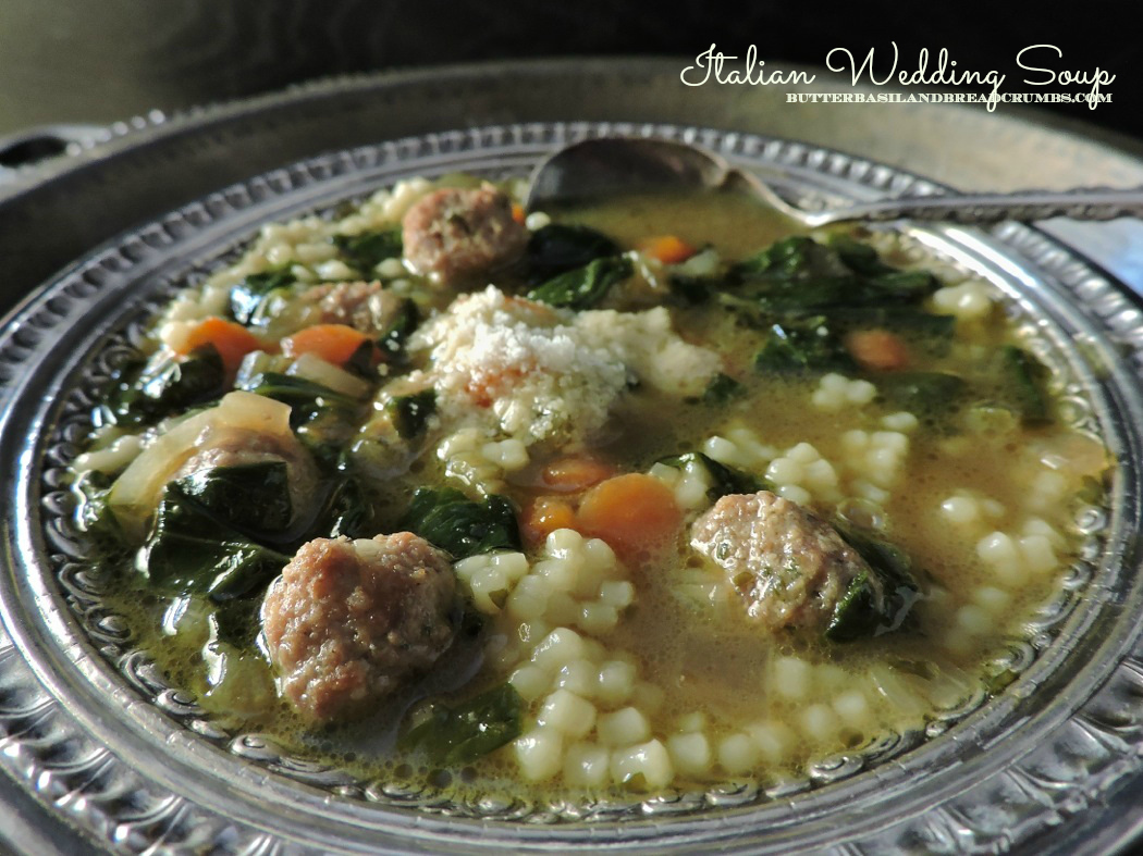italian wedding cake soup recipe italian wedding soup butter basil and breadcrumbs 16532